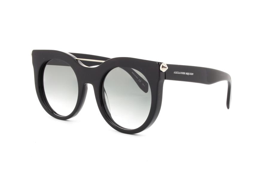 Alexander McQueen AM0001S Sonnenbrille Schwarz 001 52mm 01Eh2K
