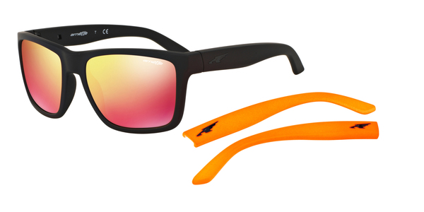 ARNETTE AN4177   WITCH DOCTOR » FUZZY BLACK RED MUTILAYER