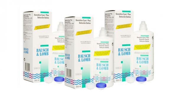BAUSCH & LOMB Sensitive Eyes Solucion Salina Pack 3
