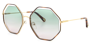CHLOE Poppy CE132S-240 HAVANA/GREEN ROSE