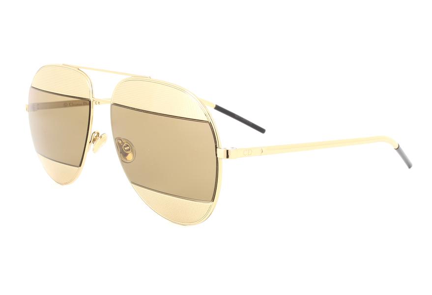Christian Dior Damen Sonnenbrille DIORSPLIT1 5V J5G, Gold (Gold/Brown), 59