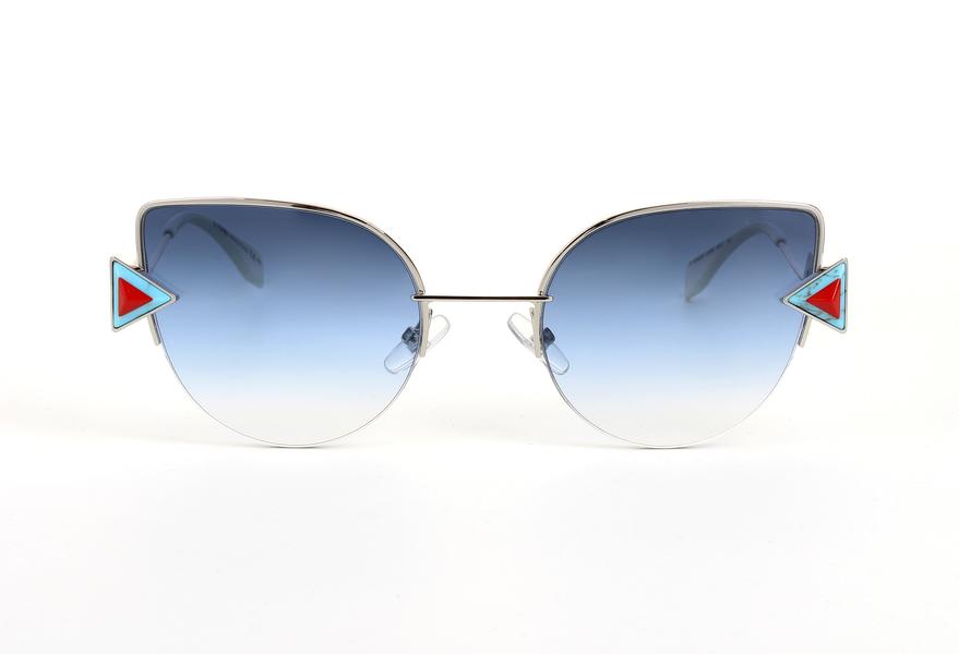 Fendi FF0242/S Sonnenbrille Silber / Blau SCB 52mm ekk6YSaVH