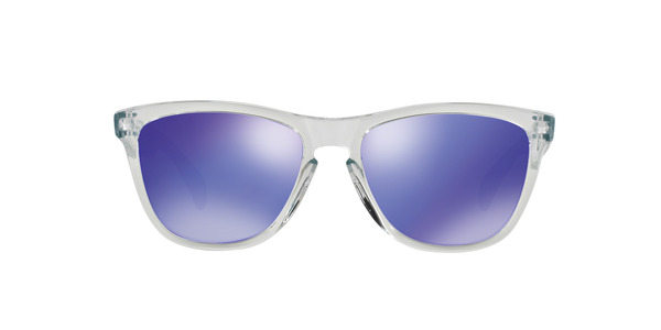 OAKLEY OO9013 FROGSKINS » POLISHED CLEAR VIOLET IRIDIUM