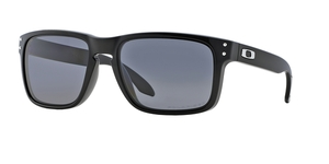 OAKLEY Holbrook OO9102 910202 POLISHED BLACK GREY POLARIZED