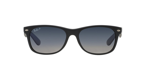 RAY-BAN RB2132 NEW WAYFARER » MATTE BLACK POLAR BLUE GRAD. GRAY
