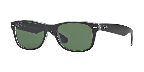 cb005495c1d RAY-BAN New Wayfarer RB2132-6052 TOP BLACK ON TRANSPARENT