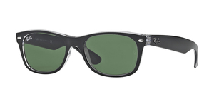 New Wayfarer RB2132 6052 TOP BLACK ON TRANSPARENT