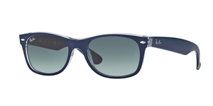 New Wayfarer RB2132 605371 TOP MATTE BLUE ON TRANSPARENT
