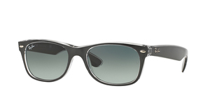 RAY-BAN New Wayfarer RB2132 614371 TOP BRUSHED GUNMETAL ON TRASP