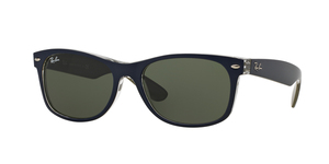 New Wayfarer RB2132 6188 MT BLUE/MILITARY GREEN
