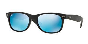 New Wayfarer RB2132 622/17 BLACK/BLUE FLASH