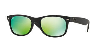 New Wayfarer RB2132 622/19 BLACK/GREEN FLASH