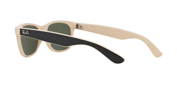 RAY-BAN RB2132 NEW WAYFARER » TOP BLACK ON BEIGE CRYSTAL GREEN