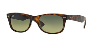 New Wayfarer RB2132 894/76 MATTE HAVANA BLUE/GREEN MIRROR POLAR