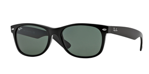 New Wayfarer RB2132-901L BLACK CRYSTAL GREEN