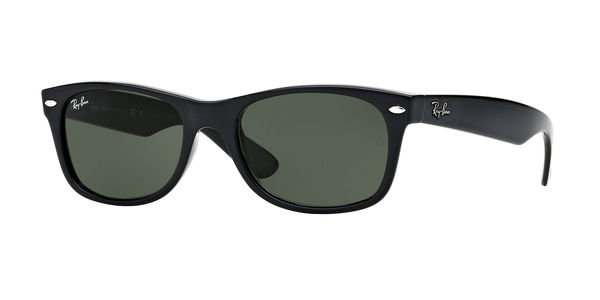 RAY-BAN RB2132 NEW WAYFARER » BLACK/CRYSTAL GREEN