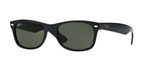 New Wayfarer RB2132 901 BLACK/CRYSTAL GREEN