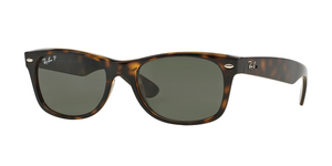 RAY-BAN New Wayfarer RB2132 902/58 TORTOISE CRYSTAL GREEN POLARIZED