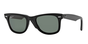 Original Wayfarer RB2140 901/58 BLACK/CRYSTAL GREEN POLARIZED