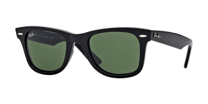 Original Wayfarer RB2140 901 BLACK/CRYSTAL GREEN