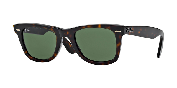 RAY-BAN RB2140 ORIGINAL WAYFARER » TORTOISE/CRYSTAL GREEN