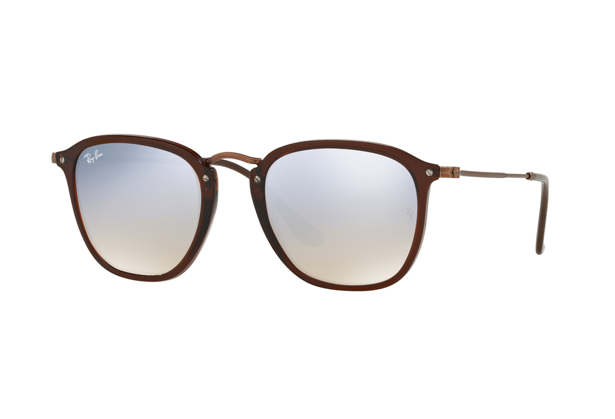 Ray-Ban RB2448N Sonnenbrille Grau transparent 62554O 51mm FlNTMm