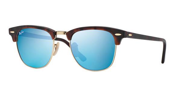 RAY-BAN RB3016 CLUBMASTER » SAND HAVANA GREY MIRROR BLUE