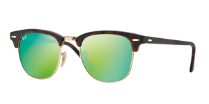 Clubmaster RB3016 114519 SAND HAVANA GREY MIRROR GREEN