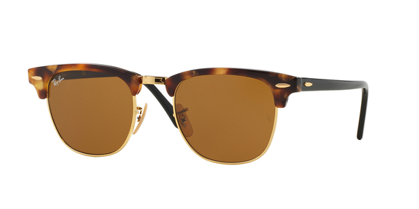 RAY-BAN RB3016 CLUBMASTER » SPOTTED BROWN HAVANA