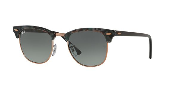 RAY-BAN RB3016 CLUBMASTER » SPOTTED GREY/GREEN