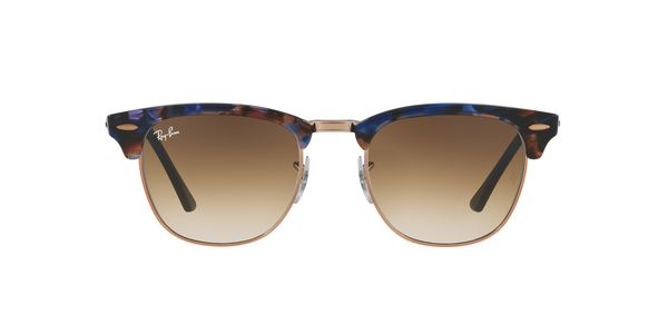 RAY-BAN RB3016 CLUBMASTER » SPOTTED BROWN/BLUE