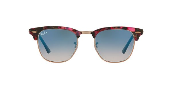 795716f39d RAY-BAN Clubmaster RB3016-12573F SPOTTED GREY VIOLET