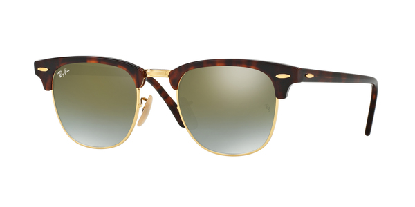 RAY-BAN RB3016 CLUBMASTER » SHINY RED HAVANA GREEN