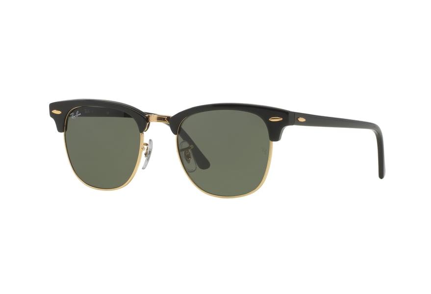 Ray-Ban RB3016 Sonnenbrille Schwarz / Gold W0365 49mm h2l0x3CwC