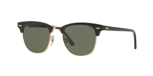 RAY-BAN Clubmaster RB3016-W0365 EBONY-ARISTA/CRYSTAL GREEN