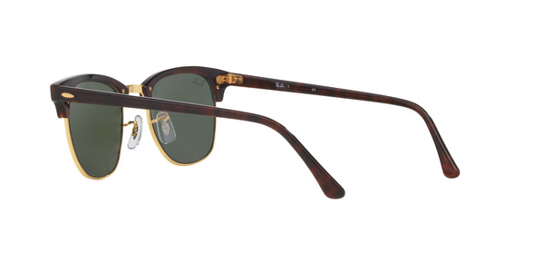 RAY-BAN RB3016 CLUBMASTER » TORTOISE/ARISTA CRYSTAL GREEN