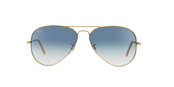 RAY-BAN RB3025 AVIATOR LARGE METAL » ARISTA/CRYSTAL WHITE GRAD. BLUE