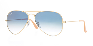 Aviator Large Metal RB3025-001/3F ARISTA/CRYSTAL WHITE GRAD. BLUE