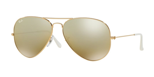 RAY-BAN RB3025 AVIATOR LARGE METAL » ARISTA CRY. BROWN MIRROR SILVER GRAD.