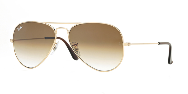 RAY-BAN RB3025 AVIATOR LARGE METAL » ARISTA/CRYSTAL BROWN GRAD