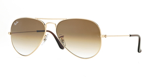 Aviator Large Metal RB3025-001/51 ARISTA/CRYSTAL BROWN GRAD