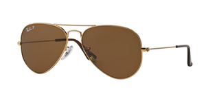 Aviator Large Metal RB3025-001/57 ARISTA CRYSTAL BROWN POLAR