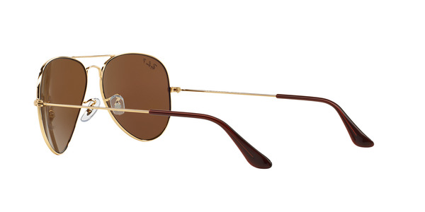 RAY-BAN RB3025 AVIATOR LARGE METAL » ARISTA CRYSTAL BROWN POLARIZED
