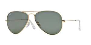 Aviator Large Metal RB3025-001/58 ARISTA CRYSTAL GREEN POLARIZED