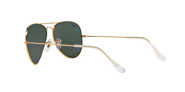 RAY-BAN RB3025 AVIATOR LARGE METAL » ARISTA CRYSTAL GREEN POLARIZED