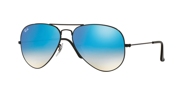2f89e70fa0 ... 002 4O SHINY BLACK. RAY-BAN RB3025 AVIATOR LARGE METAL » SHINY ...