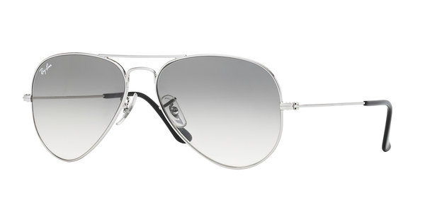 e6d5bca2a4 RAY-BAN RB3025 AVIATOR LARGE METAL » SILVER  CRYSTAL GRAY ...