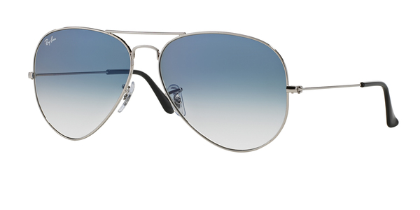 279d254f33f RAY-BAN RB3025 AVIATOR LARGE METAL » SILVER CRYSTAL GRADIENT LIGHT ...