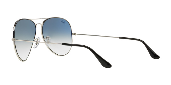 RAY-BAN RB3025 AVIATOR LARGE METAL » SILVER CRYSTAL GRADIENT LIGHT BLUE