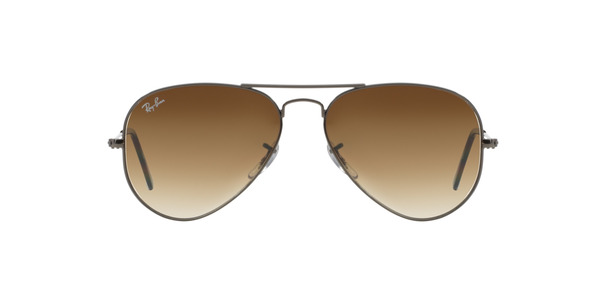 RAY-BAN RB3025 AVIATOR LARGE METAL » GUNMETAL/CRYSTAL BROWN GRAD